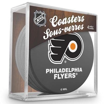 (InGlasco Puck Coasters Pack - Philadelphia Flyers)