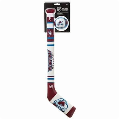 (Franklin NHL Team Soft Sport Mini Hockey Set - Colorado Avalanche)