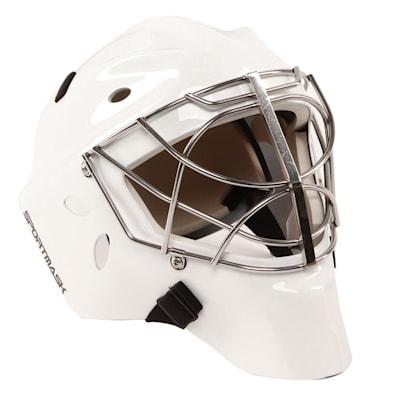 White (SportMask X8 Non-Certified Cat Eye Goalie Mask - Senior)