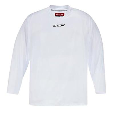 Front (CCM 5000 Practice Jersey - White - Junior)