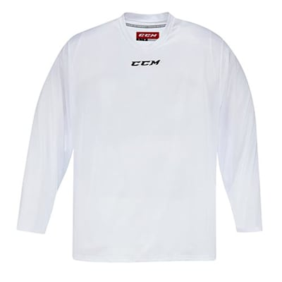 Front (CCM 5000 Practice Jersey - White - Senior)