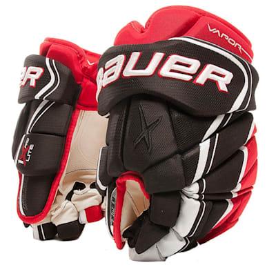 Black/Red (Bauer Vapor 1X Lite Pro Hockey Gloves - Senior)