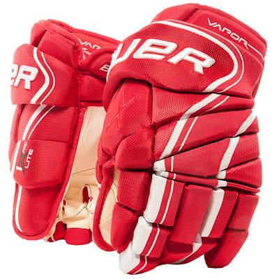 Red (Bauer Vapor 1X Lite Pro Hockey Gloves - Senior)