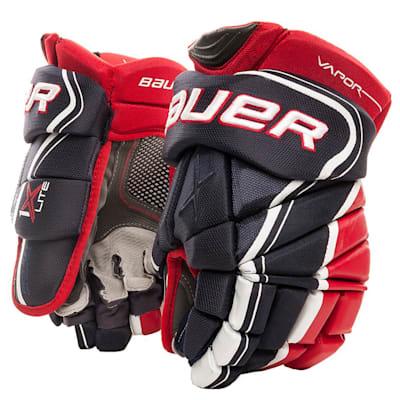 Navy/Red/White (Bauer Vapor 1X Lite Hockey Gloves - Junior)