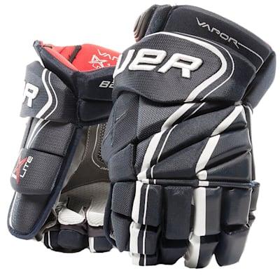 Navy (Bauer Vapor 1X Lite Hockey Gloves - Junior)