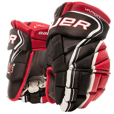 Black/Red (Bauer Vapor 1X Lite Hockey Gloves - Junior)