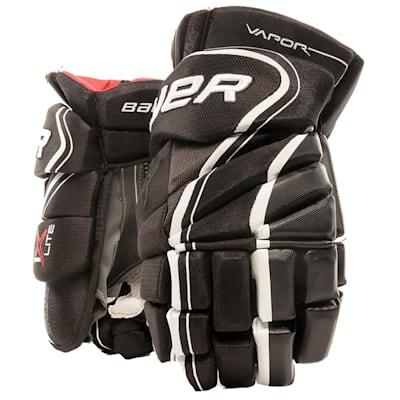 Black/White (Bauer Vapor 1X Lite Hockey Gloves - Junior)