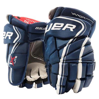 Blue (Bauer Vapor 1X Lite Hockey Gloves - Junior)