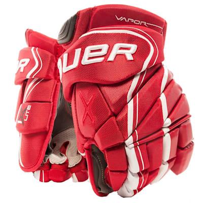 Red (Bauer Vapor 1X Lite Hockey Gloves - Junior)