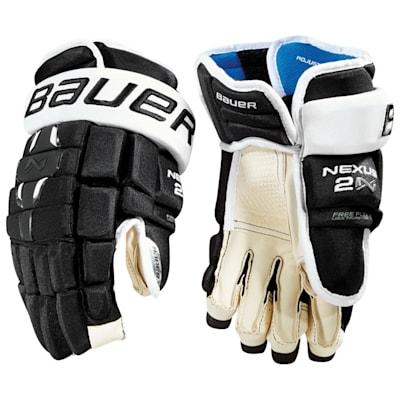 Black/White (Bauer Nexus 2N Hockey Gloves - Senior)