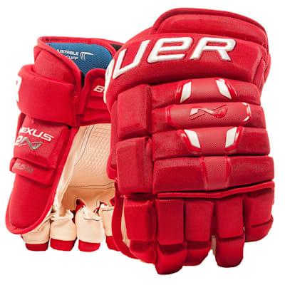 Red (Bauer Nexus 2N Hockey Gloves - Senior)