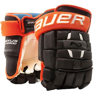 Black/Orange (Bauer Nexus N2900 Hockey Gloves - Senior)
