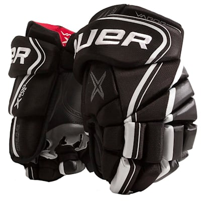 Black/White (Bauer Vapor X800 Lite Hockey Gloves - Junior)