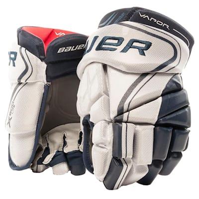 White/Navy (Bauer Vapor X800 Lite Hockey Gloves - Junior)