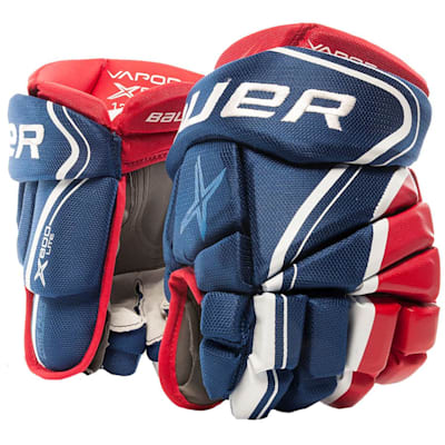 Blue/Red/White (Bauer Vapor X800 Lite Hockey Gloves - Senior)