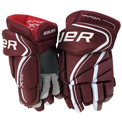 Maroon (Bauer Vapor X800 Lite Hockey Gloves - Senior)