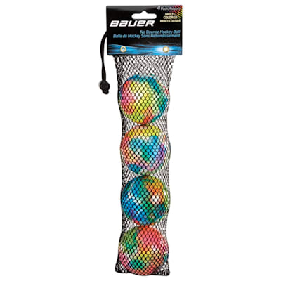 (Bauer Multi-Colored Hockey Balls - 4 Pack)