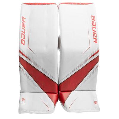 White/Red (Bauer Supreme 2S Pro Goalie Leg Pads - Senior)