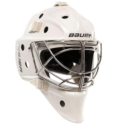 White (Bauer NME VTX Non-Certified Goalie Mask - Senior)