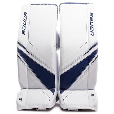 White/Blue (Bauer Supreme S29 Goalie Leg Pads - Senior)