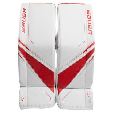 White/Red (Bauer Supreme S29 Goalie Leg Pads - Senior)