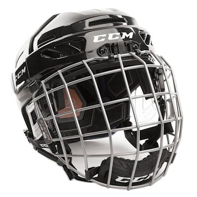 Black (CCM Fitlite 3DS Junior Hockey Helmet Combo - Junior)