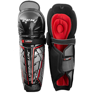 (CCM JetSpeed FT370 Hockey Shin Guards - Junior)
