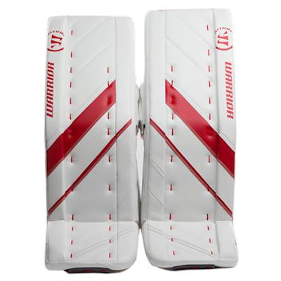 White/Red (Warrior Ritual G4 Pro Goalie Leg Pads - Senior)