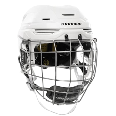 White (Warrior Alpha One Pro Combo Hockey Helmet)