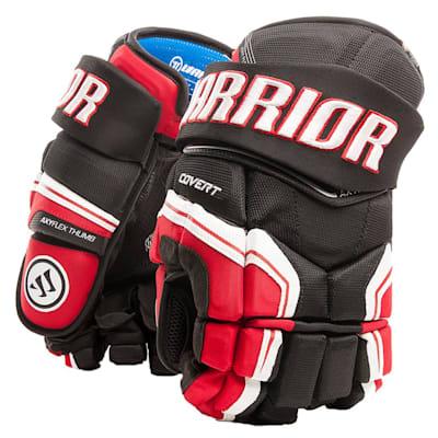 Black/Red/White (Warrior Covert QR Edge Hockey Gloves - Senior)