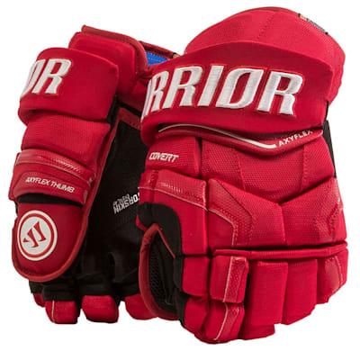 Red (Warrior Covert QR Edge Hockey Gloves - Senior)