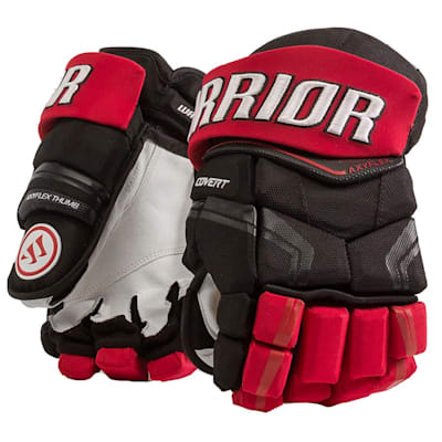 Black/Red (Warrior Covert QRE Pro Hockey Gloves - Junior)