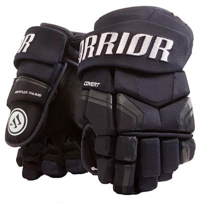 Navy (Warrior Covert QRE3 Hockey Gloves - Junior)