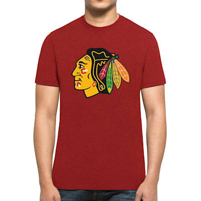 Front (47 Brand Chicago Blackhawks Red Club Tee - Mens)