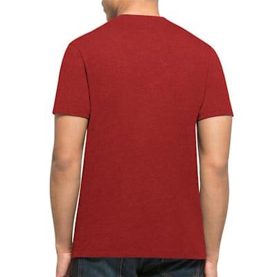 Back (47 Brand Chicago Blackhawks Red Club Tee - Mens)