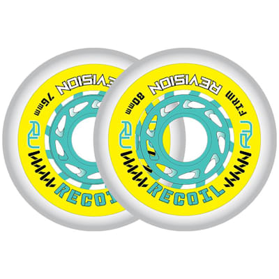(Revision Recoil Firm Inline Wheel - Yellow/Teal)