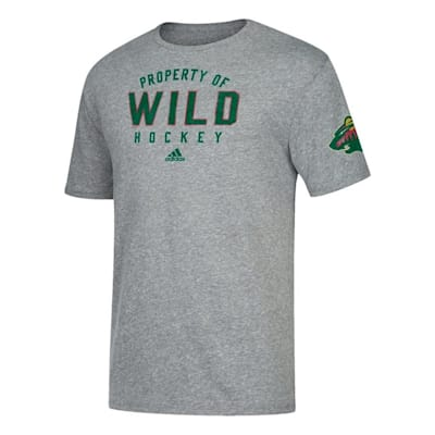 Front (Adidas NHL Property Short Sleeve Tee Shirt - Minnesota Wild - Mens)