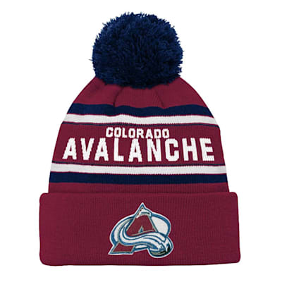 Front (Adidas Colorado Avalanche Youth Pom Knit Hat)