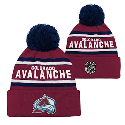 Front and Back (Adidas Colorado Avalanche Youth Pom Knit Hat)