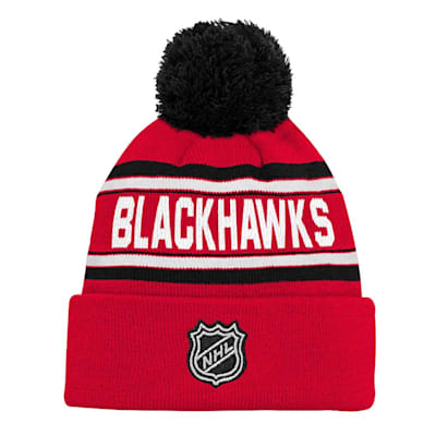 Back (Outerstuff Chicago Blackhawks Youth Pom Knit Hat)