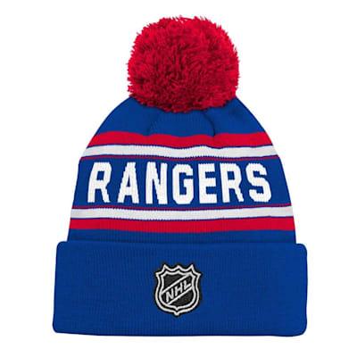 Back (Adidas New York Rangers Youth Pom Knit Hat)