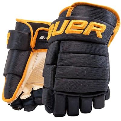 Navy/Gold (Bauer 4-Roll Team Pro Hockey Gloves - Junior)