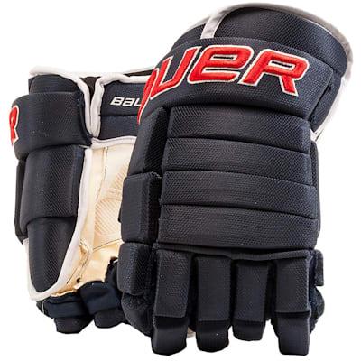 Navy/Red/White (Bauer 4-Roll Team Pro Hockey Gloves - Junior)