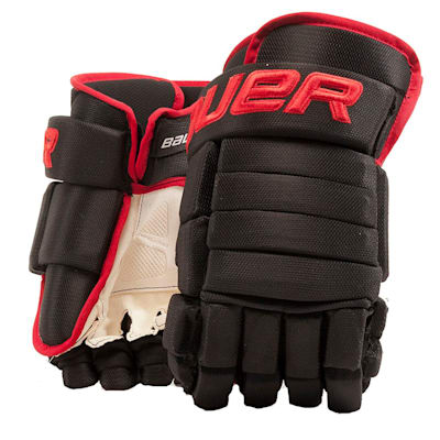 Black/Red (Bauer 4-Roll Team Pro Hockey Gloves - Senior)
