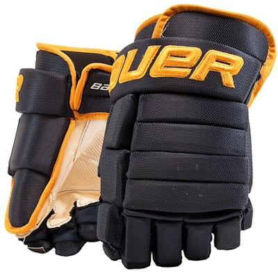 Navy/Gold (Bauer 4-Roll Team Pro Hockey Gloves - Senior)