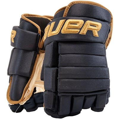 Navy/Vegas Gold (Bauer 4-Roll Team Pro Hockey Gloves - Senior)