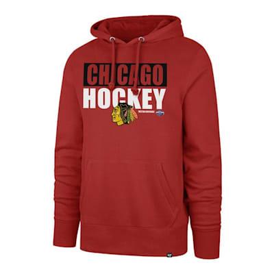 (47 Brand Blockout Headline Hoody - Chicago Blackhawks - Adult)