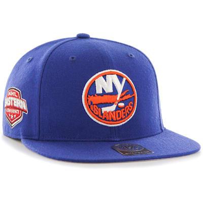 (47 Brand New York Islanders Sure Shot Captain Snapback Cap)