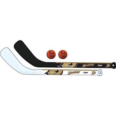 (Franklin NHL Mini Hockey Stick Set - Anaheim Ducks)
