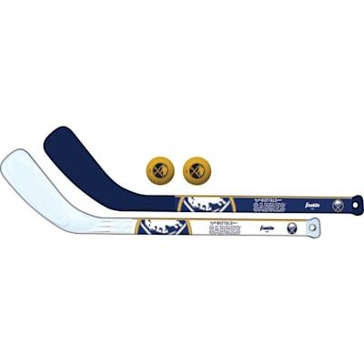 (Franklin NHL Mini Hockey Stick Set - Buffalo Sabres)